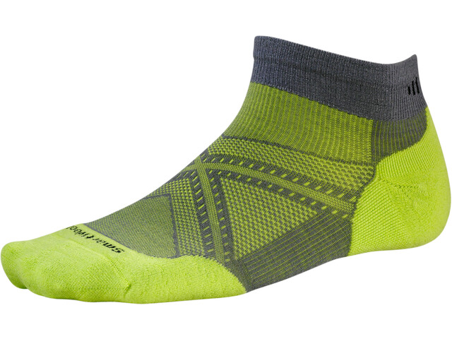 Smartwool PhD Run Light Elite Low Cut Socks graphite/smartwool green